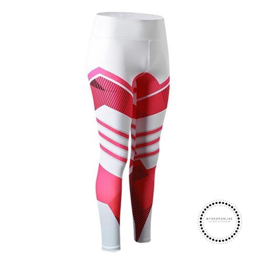 Sexy Fitness Leggings Women Rose Pink / L Ropa Intérieur