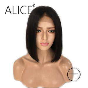 Short Lace Front Wigs With Baby Hair 8-16 Inch Straight Brazilian Accesorios