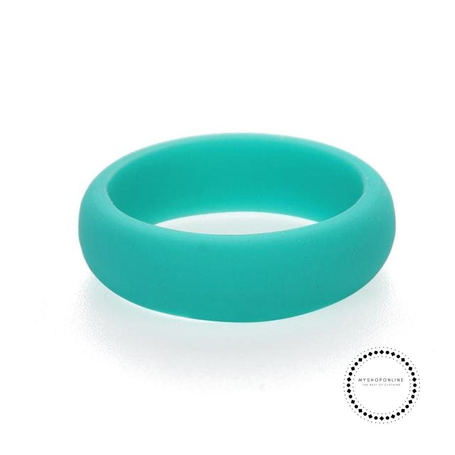 Silicone Ring For Women 5 / Green Accesorios