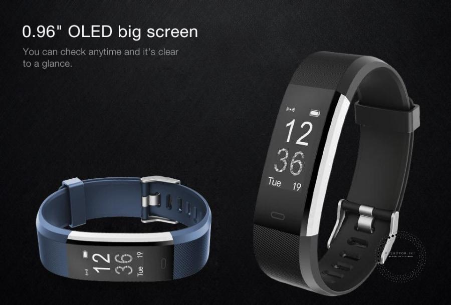 Smartband Fitness And Sleep Tracker Pedometer Heart Rate Monitor Accesorios