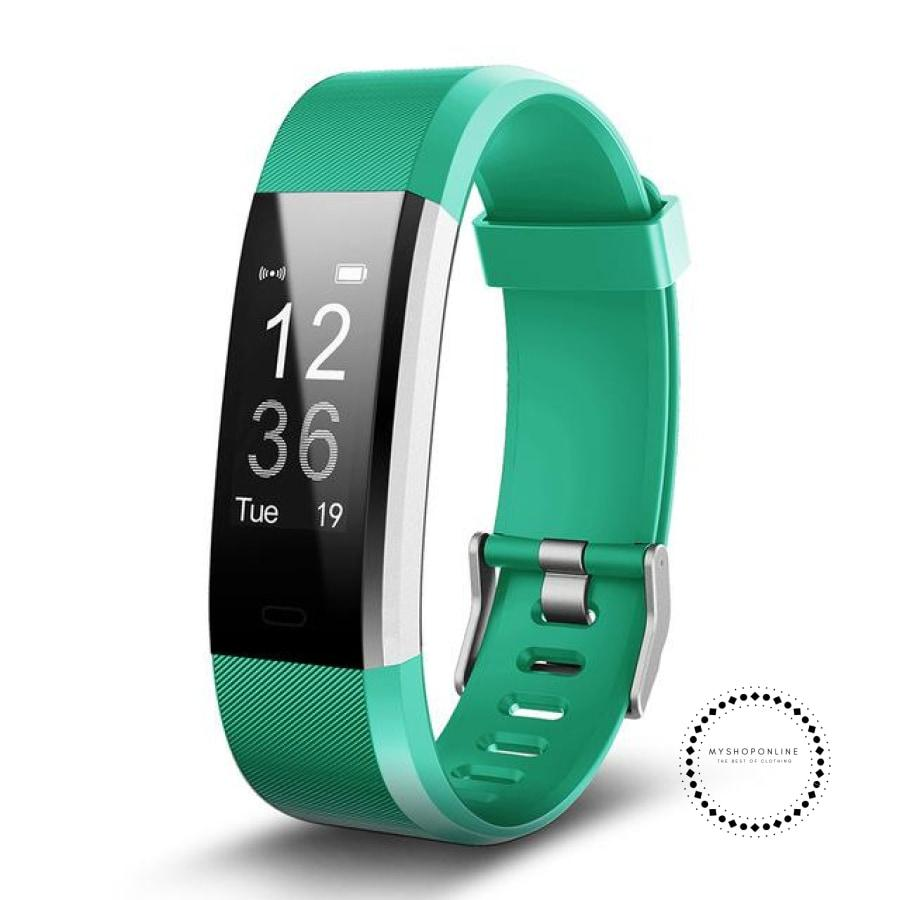 Smartband Fitness And Sleep Tracker Pedometer Heart Rate Monitor Green / Usa Accesorios