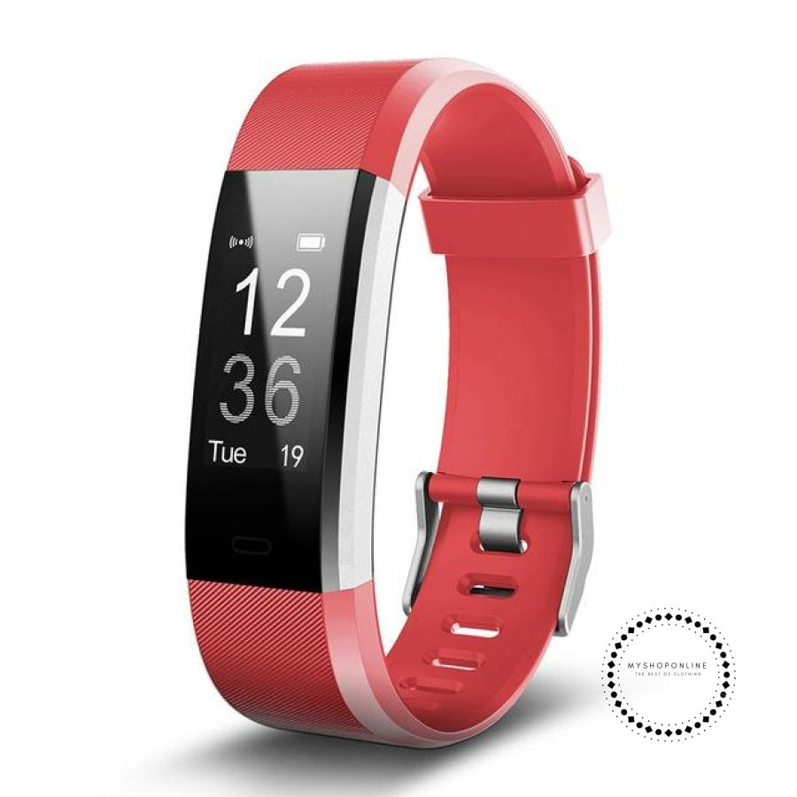 Smartband Fitness And Sleep Tracker Pedometer Heart Rate Monitor Red / Usa Accesorios