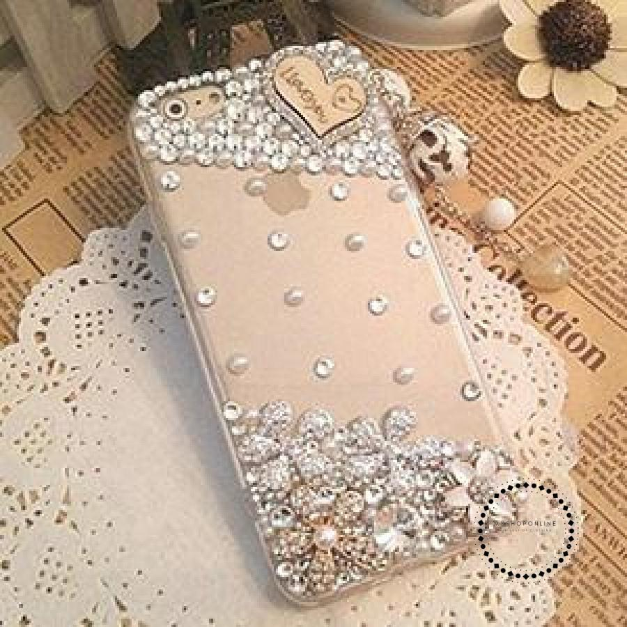 Smartphone Case Heart Crystals / For Iphone 4 4S Accesorios