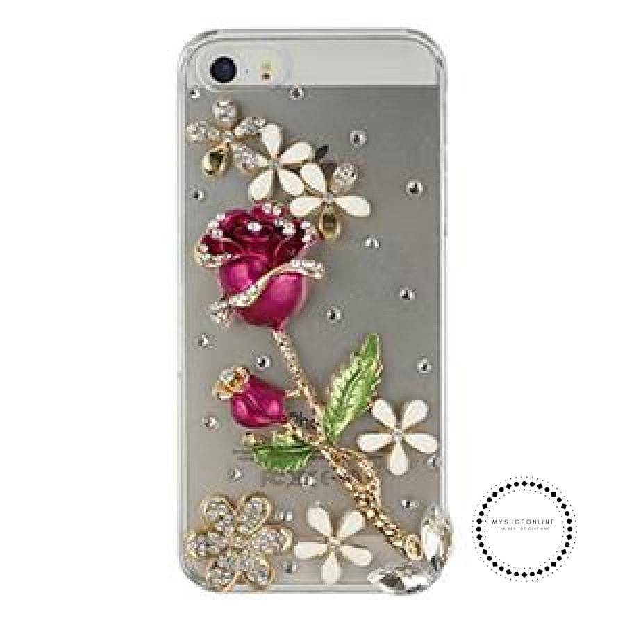 Smartphone Case Rose With Clear / For Iphone 4 4S Accesorios