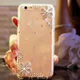 Smartphone Case Silver Crystal Flowe / For Iphone 4 4S Accesorios