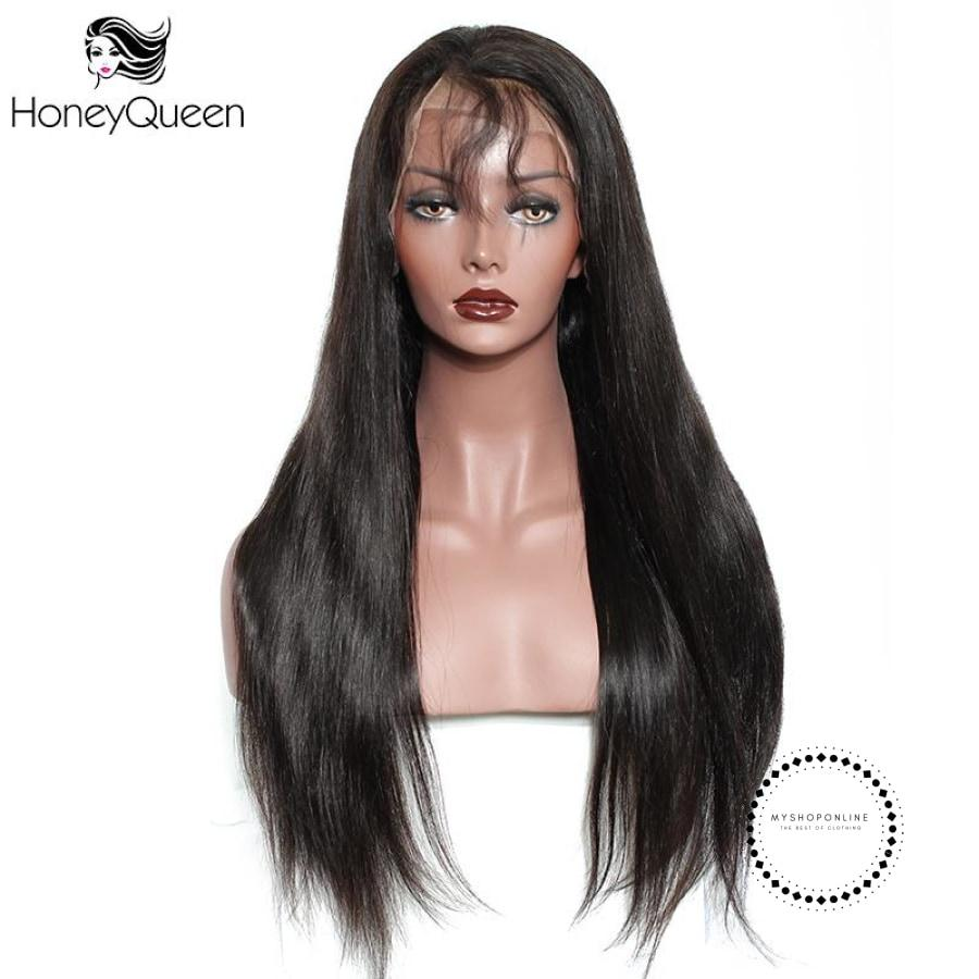Straight Lace Front Human Hair Wigs With Baby 250% Density Brazilian Accesorios