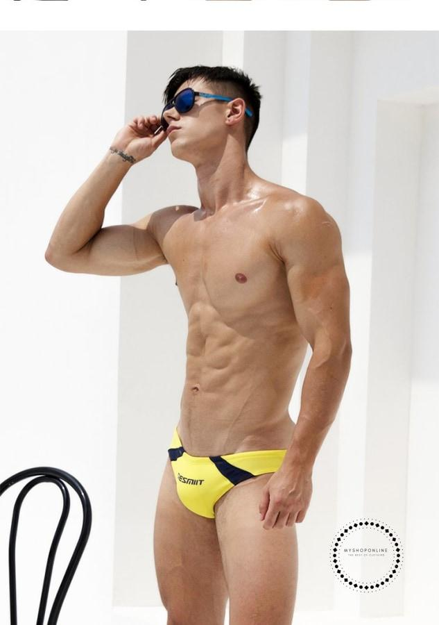 Summer Mens Swimwear Board Beach Briefs Sexy Swimming Trunks Suits Maillot De Bain Bottoms Shorts