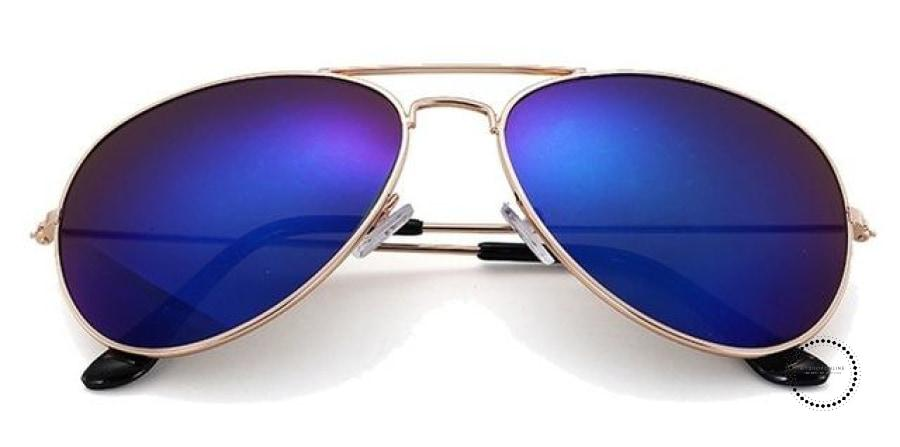Sunglasses Women And Men Gold F Blue / Colors Accesorios