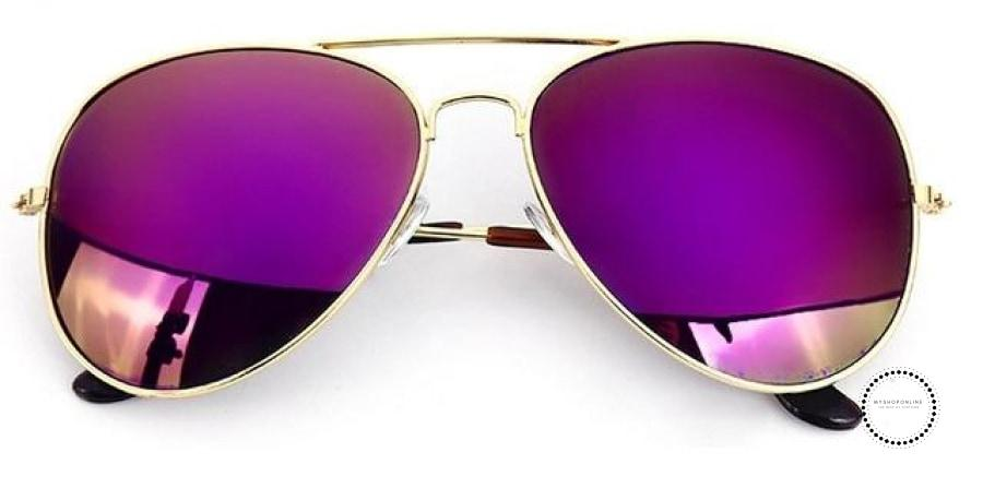 Sunglasses Women And Men Gold F Purple / Colors Accesorios