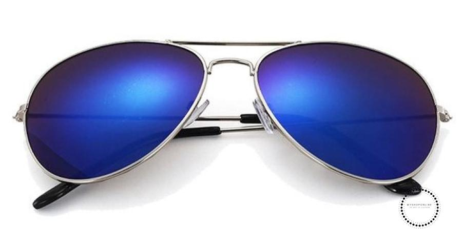 Sunglasses Women And Men Silver F Blue / Colors Accesorios