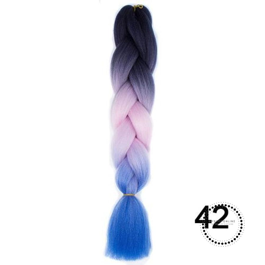 Synthetic Braiding Hair Crochet Blonde Extensions Jumbo Braids Hairstyles 1B/27Hl / 24Inches