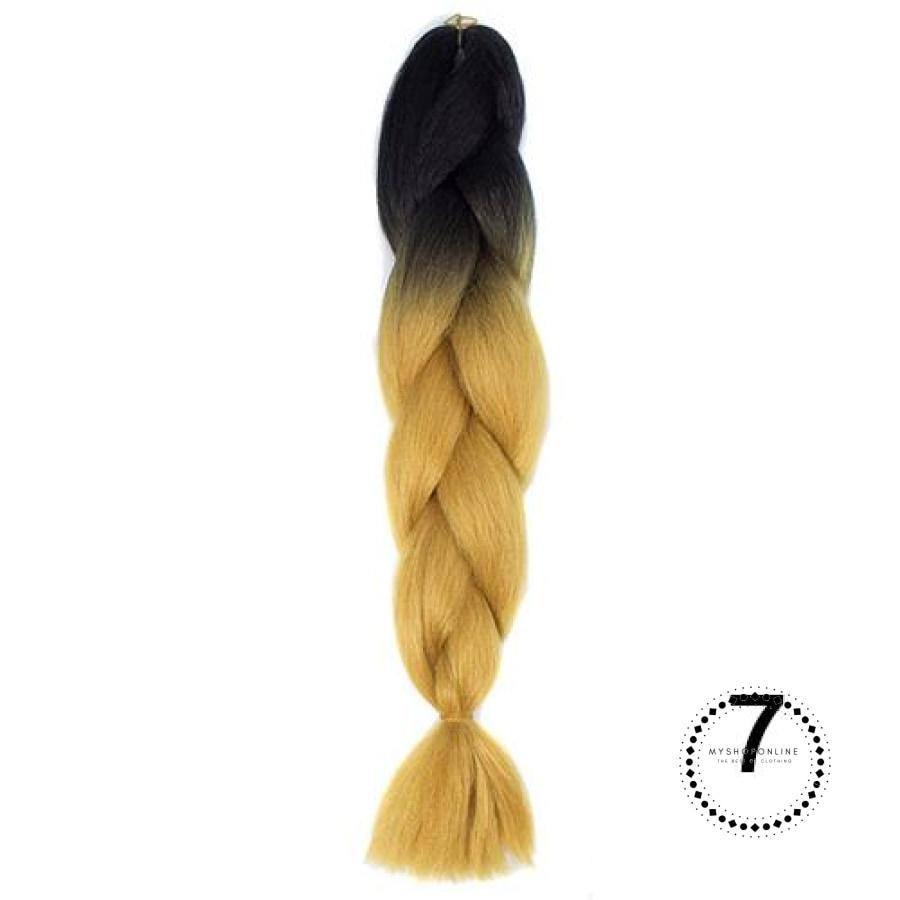 Synthetic Braiding Hair Crochet Blonde Extensions Jumbo Braids Hairstyles #6 / 24Inches Accesorios