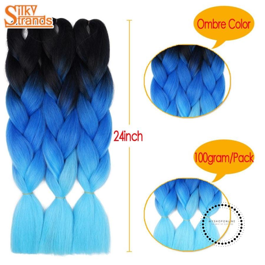 Synthetic Braiding Hair Crochet Blonde Extensions Jumbo Braids Hairstyles Accesorios