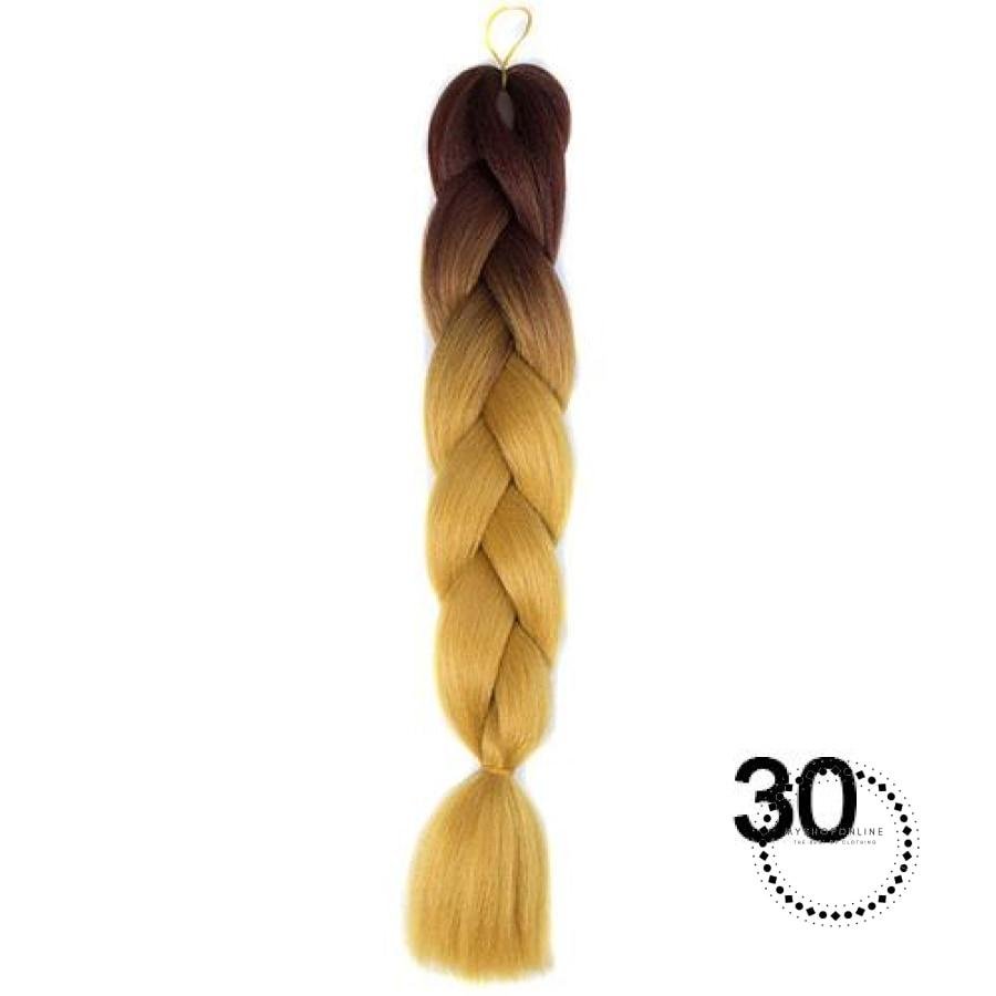 Synthetic Braiding Hair Crochet Blonde Extensions Jumbo Braids Hairstyles P4/27 / 24Inches