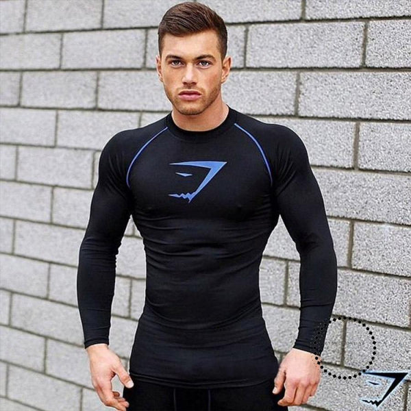 T Shirt Men Tights Fitness Thermal Bodybuilding Compression Accesorios