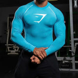 T Shirt Men Tights Fitness Thermal Bodybuilding Compression Sky Blue / M Accesorios