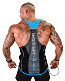 Tops Gyms Clothing Bodybuilding Black Blue / M Deporte