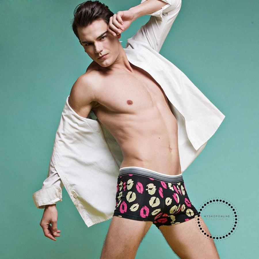 Underwear Men Cartoon Print Man Boxers Underpants 03 / L Accesorios