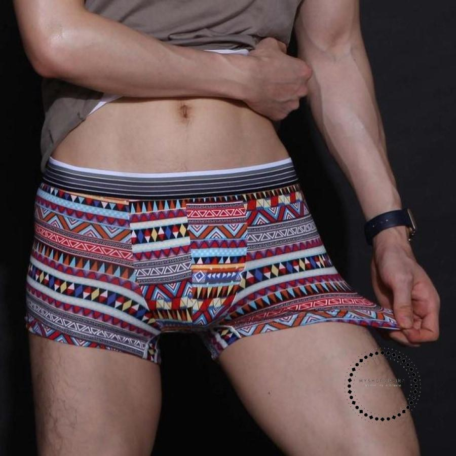 Underwear Men Cartoon Print Man Boxers Underpants 05 / L Accesorios