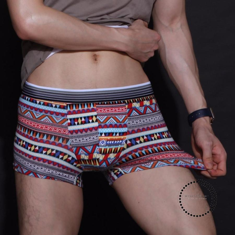 Underwear Men Cartoon Print Man Boxers Underpants Accesorios