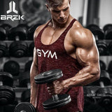 Vest Bodybuilding Clothing And Fitness Men Undershirt Tank Tops Golds Red / M Accesorios
