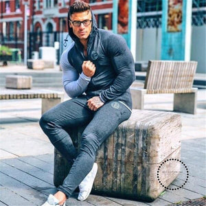 Winter Sport Suits Men Hoodies Sets M-3Xl Big Size Mens Gym Sportswear Running Jogging Suit Male