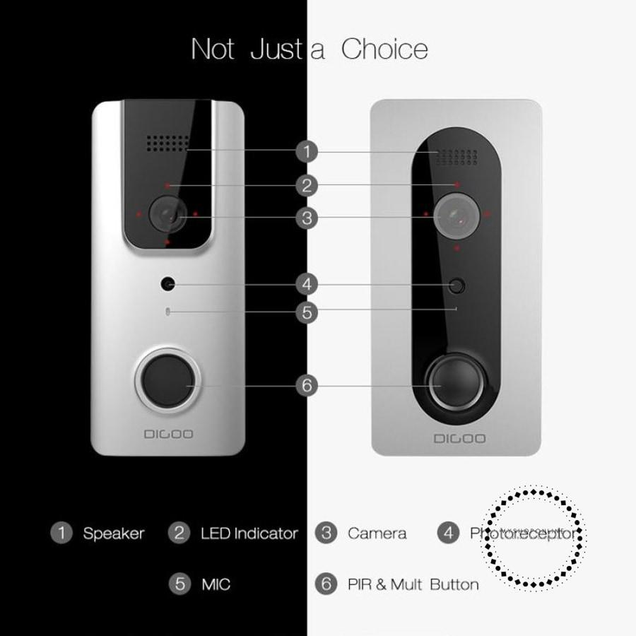 Wireless Full Hd 1080P Bluetooth /wifi Video Doorbell Security Home Accesorios