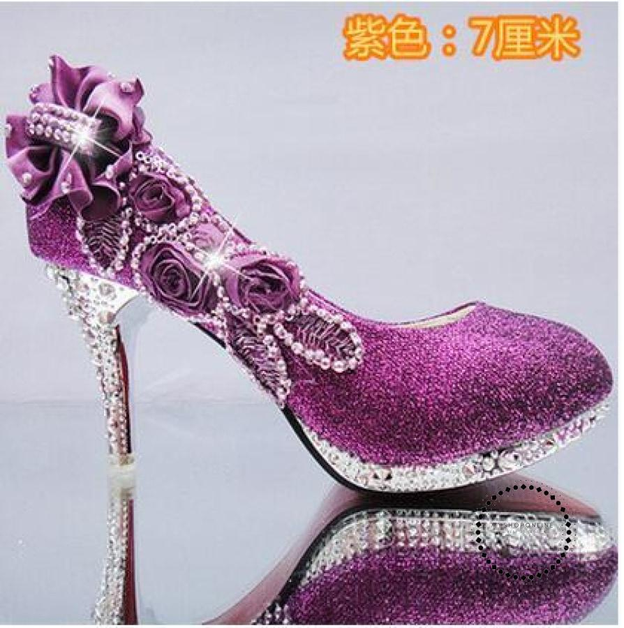 Women Shoes Purple 7Cm / 4 Accesorios