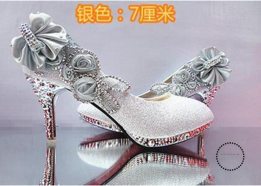 Women Shoes Silver 7Cm / 4 Accesorios