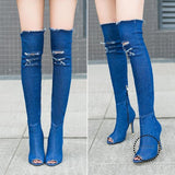 Womens Fashion Gladiator Boots Coloful Blue / 6 Accesorios