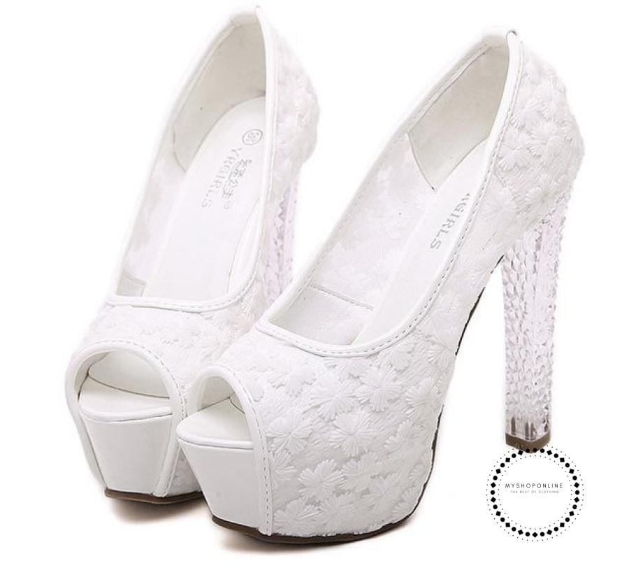 Womens Shoes Crystal White / 5 Accesorios