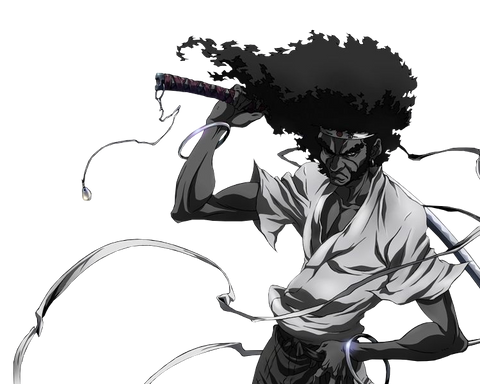 afro samurai halloween costume for black men
