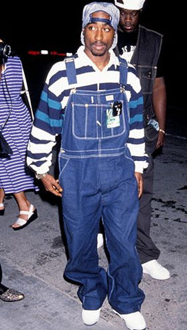 90s hip hop overalls tupac