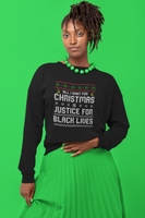 ugly christmas sweater black owned