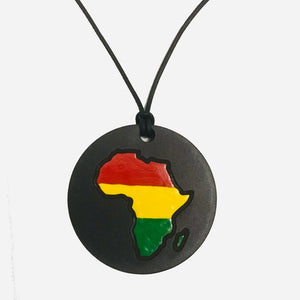 90s Africa Necklace - African Medallion Necklace - My Black Clothing