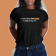 Load image into Gallery viewer, A World Without Black People Is Unisex T Shirt
