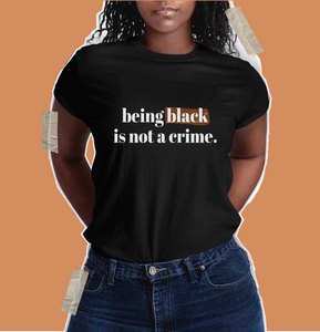 ahmaud arbery video, george floyd, my color is not a crime t shirt. black owned black lives matter shirt