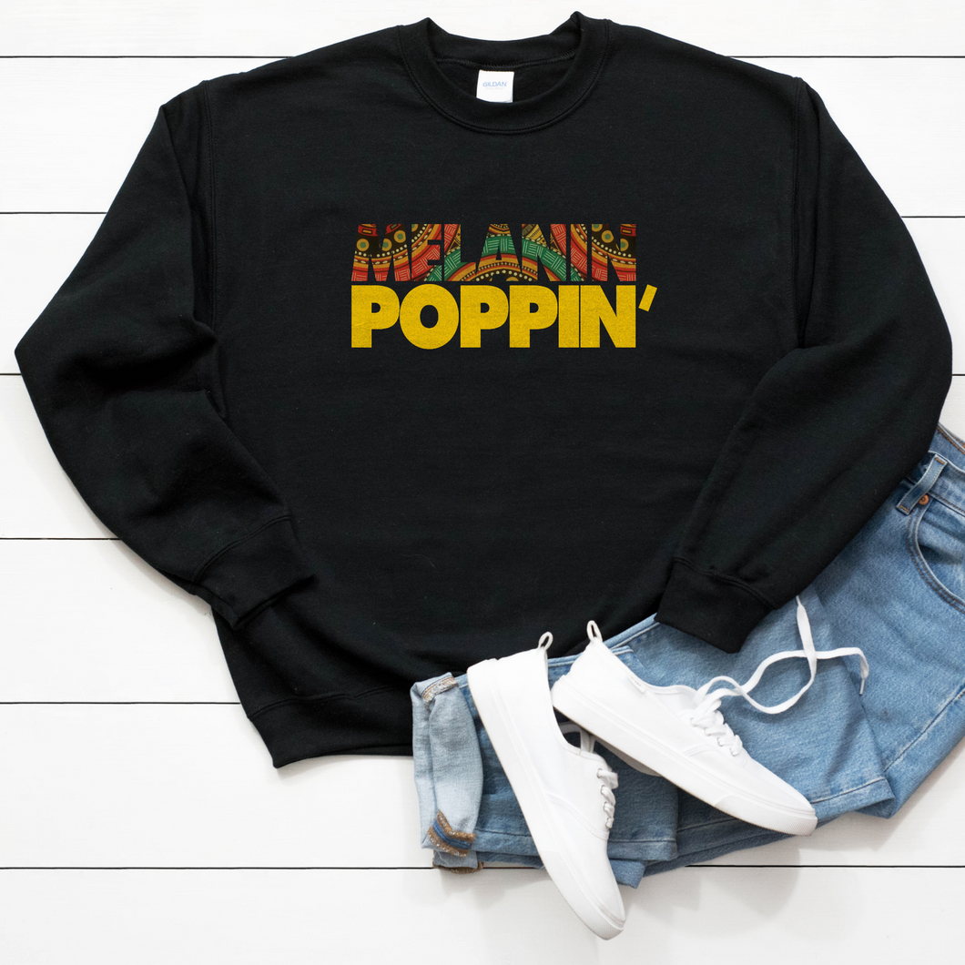 Melanin Poppin' Unisex Sweatshirt - My Black Clothing