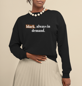 black always looked this good. black is beautiful sweater. beautiful black women sweater