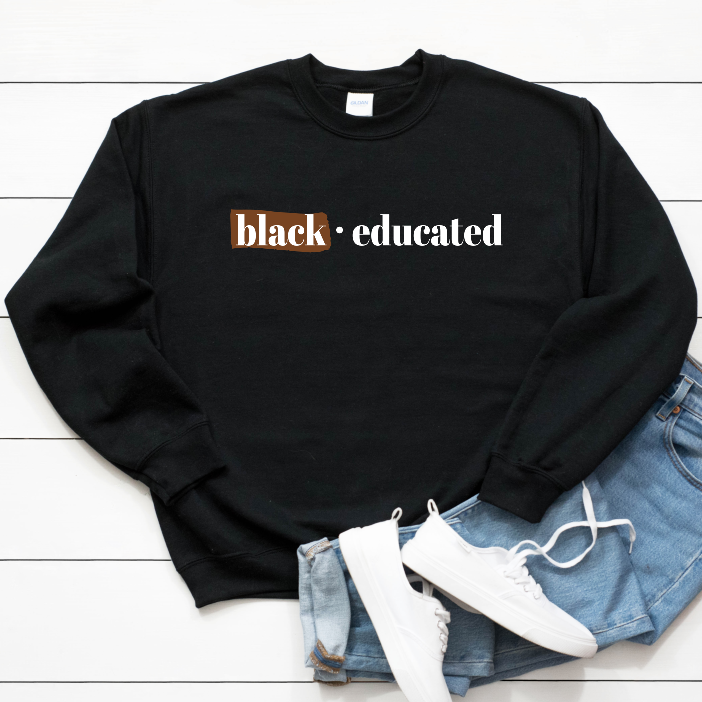 BAE black and educated t shirt. black owned