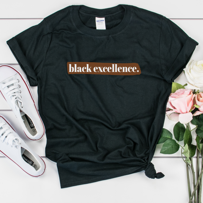 black excellence shirt. black owned clothing,