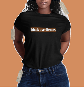 black excellence shirt from black owned brand to shop at.