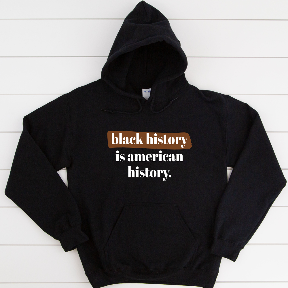 black owned hoodie for black history month. black history month sweater