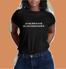 Load image into Gallery viewer, don't touch my hair t shirt