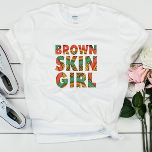 Brown Skin Girl Unisex T-Shirt - My Black Clothing