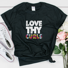 Load image into Gallery viewer, Love Thy Curls Headwrap Print Unisex T-Shirt - My Black Clothing