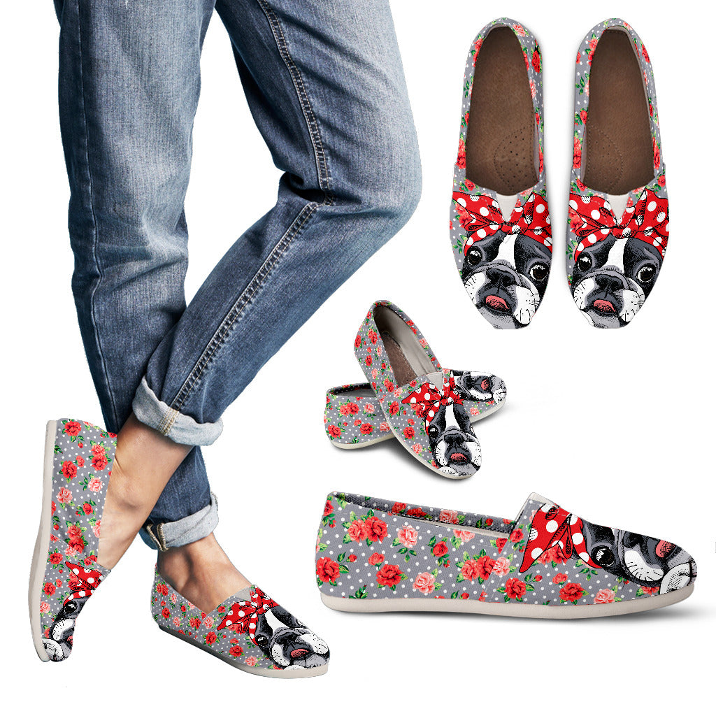 Roses and Bulldog Handcrafted Casual Slip On Shoes