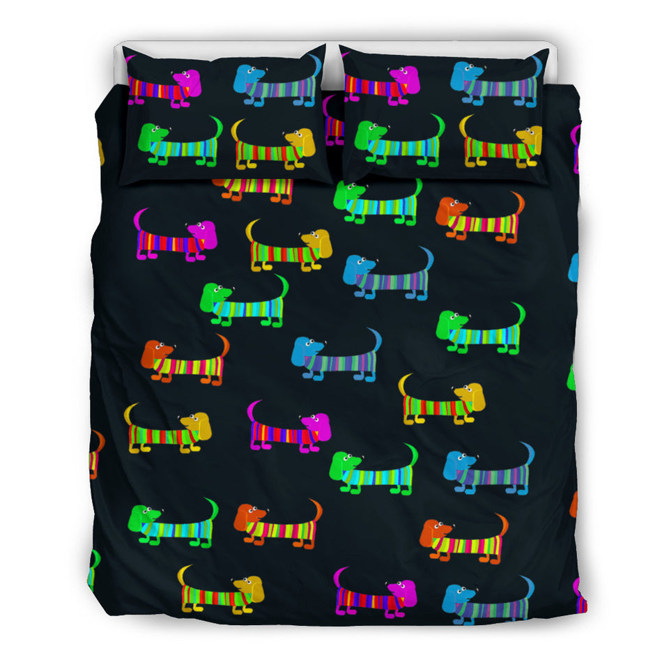 Colorful Dogs Bedding Set