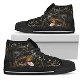 Rottweiler Men's High Top Sneakers