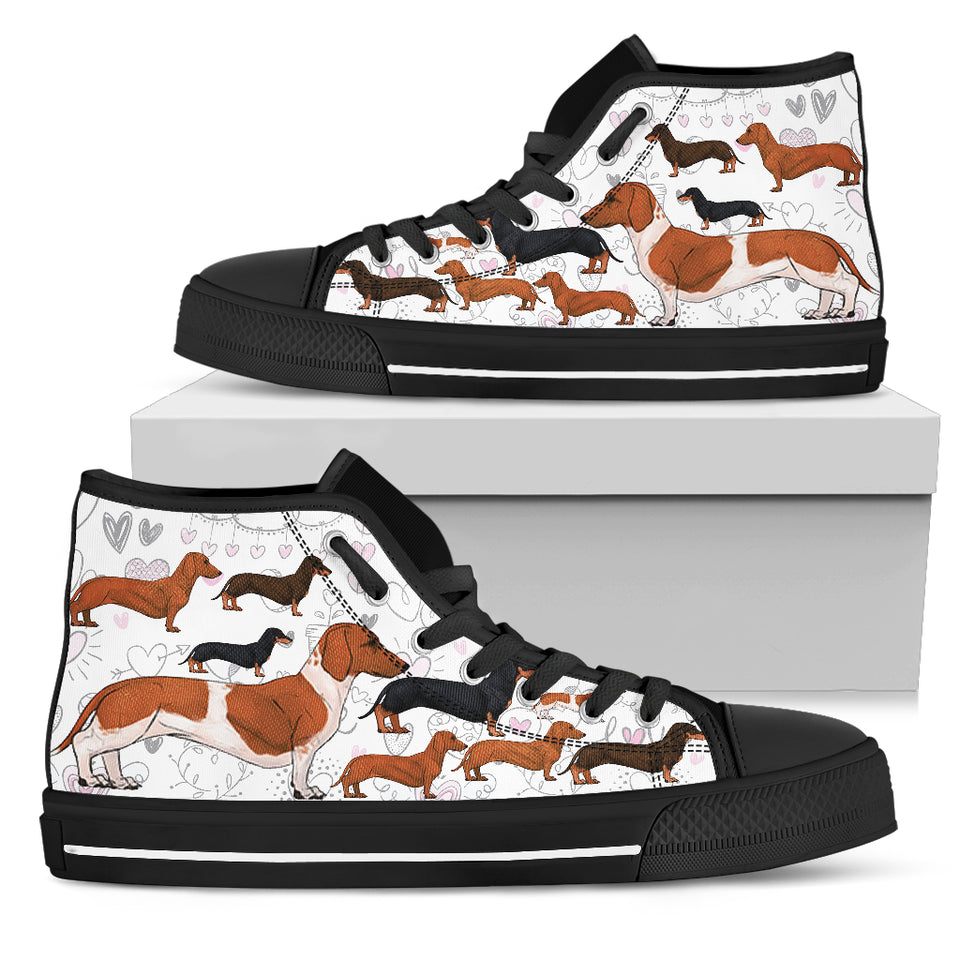 Dogs White High Top Women's Sneakers